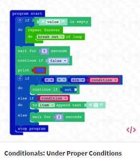Conditional Programming Drone